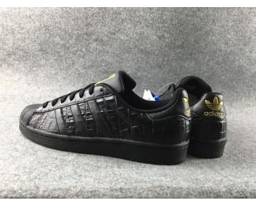 Adidas Originals Superstar Croc Schwarz/Gold/Schwarz AQ6685