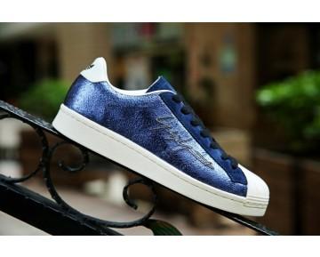 Yohji Yamamoto X Adidas Original Metallic Superstar Blau/Weiß B24383