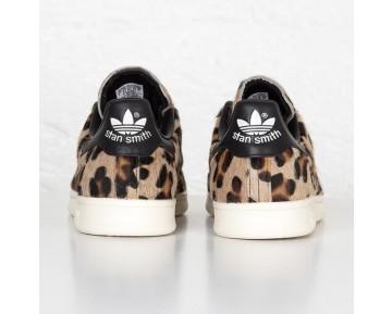 Adidas Originals Stan Smith Leopard-Print Pony-Haar Trainer Kern Schwarz/Kreide Weiß S75116