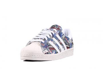 Nigo x Adidas Originals Superstar 80s Pionier Weiß/Grau B35768
