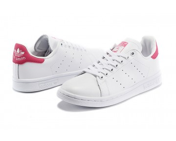Damen/Herren Adidas Originals Stan Smith Schuhe Weiß/Rot D67363