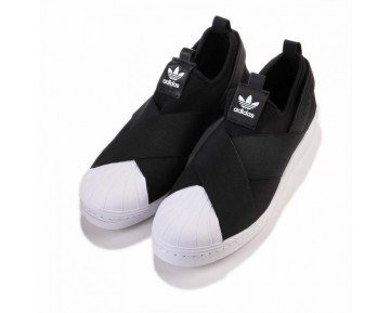 Adidas Originals Superstar Slip On W Schwarz/Weiß S81337