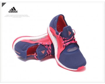 Adidas Pure Boost X Training Schock Blau/Halo Blau/Schock Rosa/Raw Lila AQ6680