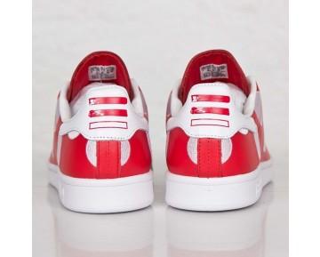 Adidas X Pharrell Williams Stan Smith BPD Schwarze Tupfen B25399 Rot/Rot/FTWR Weiß