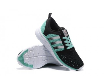 Adidas Neo Flyknit Damen Herren Laufschuhe Schwarz/Mintgrün