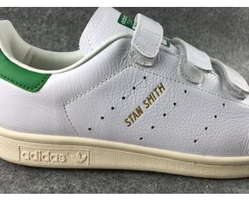 Adidas Originals Stan Smith CF FTWR Weiß Grün Hellen Beige AQ3191