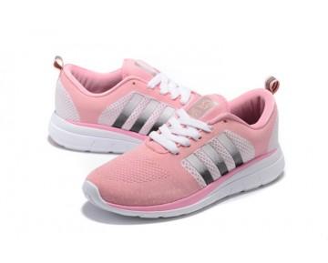 Adidas Neo Flyknit Damenlaufschuh Rosa / Weiß