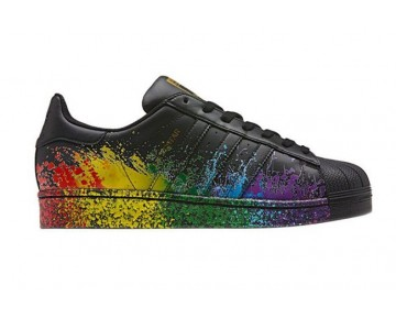 Adidas Originals LGBT Superstar Schwarz/Gold Metallic BB1687