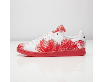 Adidas x Pharrell Williams x BBC Palme Stan Smith S82072 Kern Schwarz/Rot/FTWR Weiß