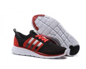Adidas Neo Flyknit Damen Herren Laufschuhe Schwarz Rot