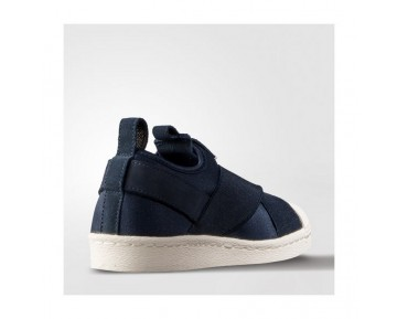 Adidas Originals Superstar Slip On W Marine Blau/Weiß S81341